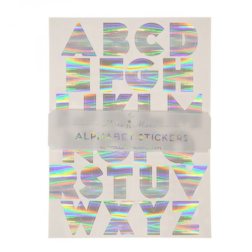 Alphabet stickers - Argentés - 10 pcs