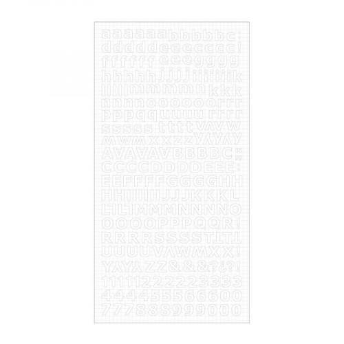 Christmas Jewel - Alphabet stickers - Blanc