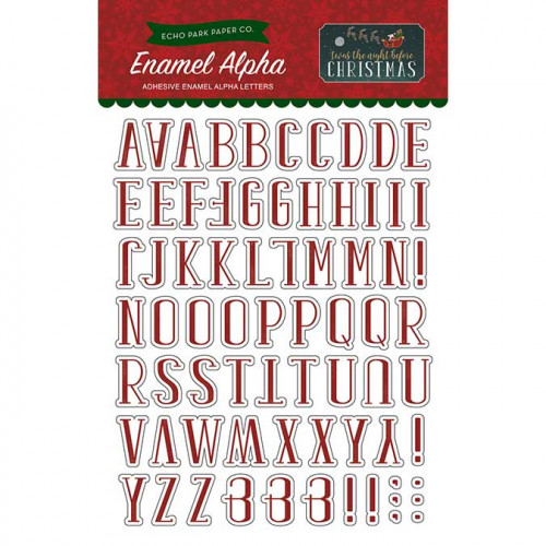Twas The Night Before Christmas - Enamel Alphabets