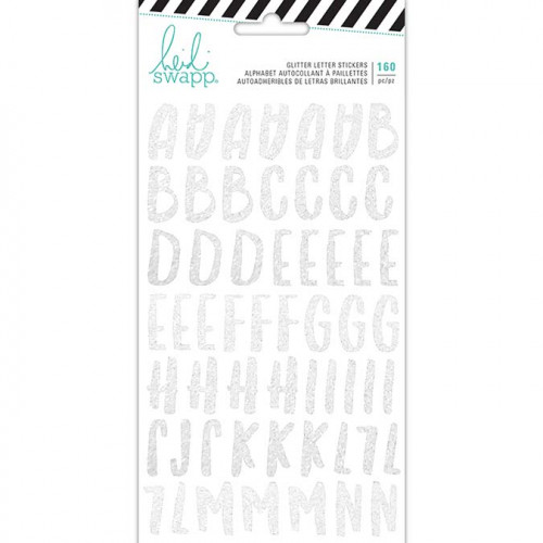 Alphabet Stickers pailletés argent Pineapple Crush