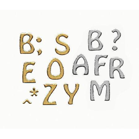 Motif autocollant - Alphabet or