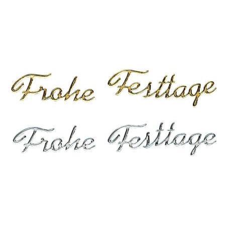 Ecriture en allemand: ''Festtage'' 20 mm - or