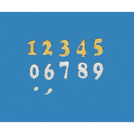 Ecriture à coller : Chiffres - 10 mm argent