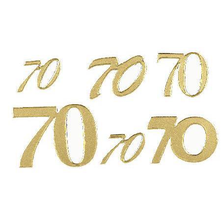 Motif autocollant - Chiffre 70 or