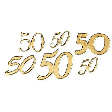 Motif autocollant - Chiffre 50 or