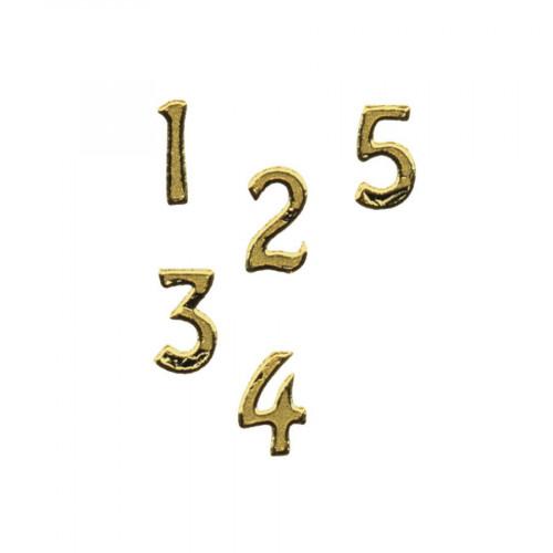 Motif autocollant - Chiffre or - 1 cm