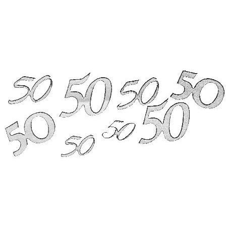 Motif autocollant - Chiffre 50 argent