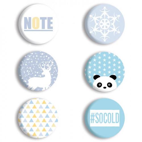 Winter Basics Badges - 6 pcs