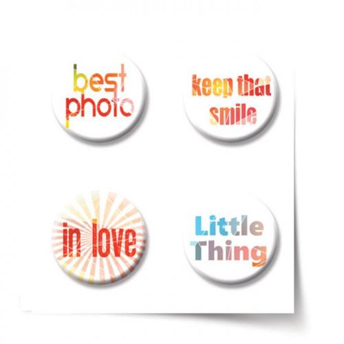 Gradient Romance Badges - 4 pcs