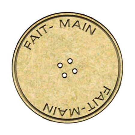 Sujet en bois médium - Bouton Fait-main - 3,4 cm