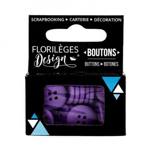 Boutons - 1,5 cm - myrtille