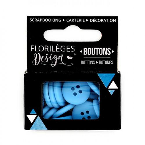 Boutons - 1,5 cm - céleste