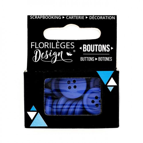 Boutons - 1,5 cm - outremer