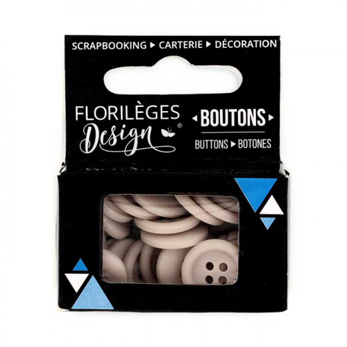 Boutons - 1,5 cm - fil de lin