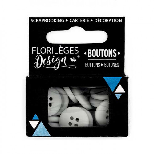 Boutons - 1,5 cm - perle