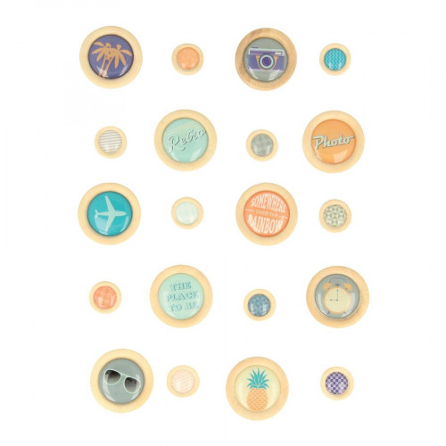 Sweet Memories - Boutons époxy - 20 pcs