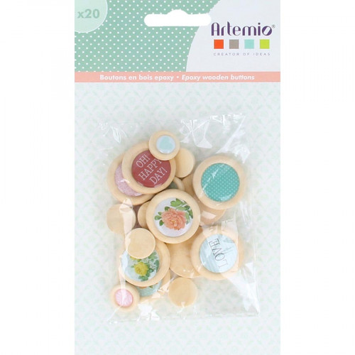 Boutons Secret Garden - 20 pcs
