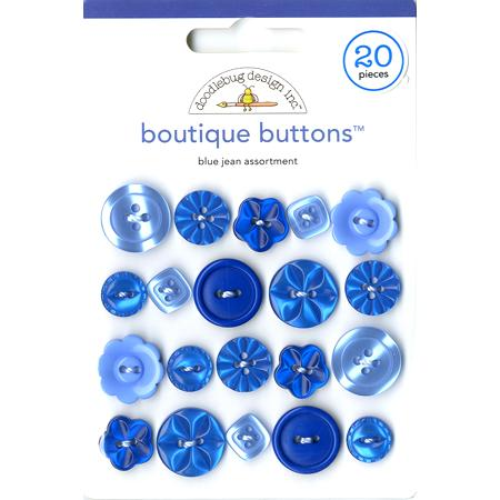 Boutons - Blue jean