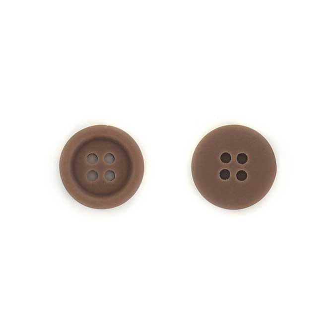 Boutons - 1,5 cm - brou de noix