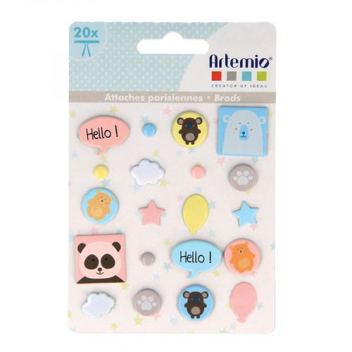 Adorable - Brads - 20 pcs