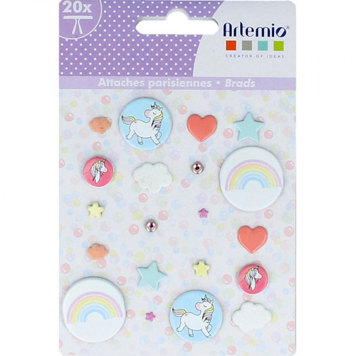 Attaches parisiennes Rainbow - 20 pcs