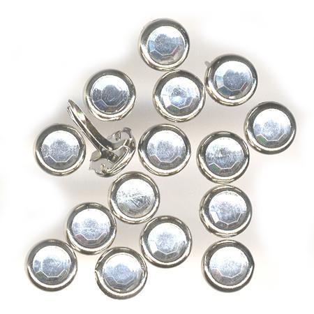 Attaches parisiennes - Strass argent - Ø 0,8 cm