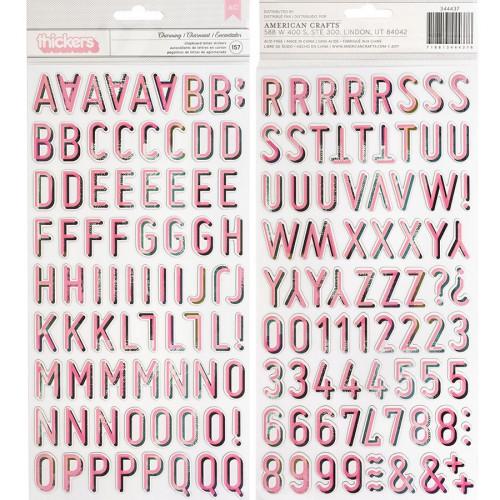 Wild Heart Alphabet Stickers en chipboard