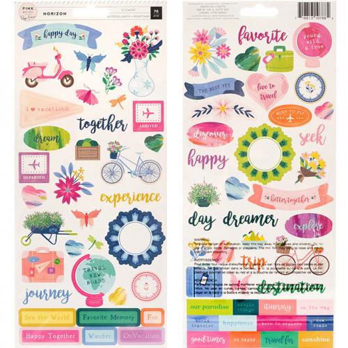 Horizon Stickers - 76 pcs