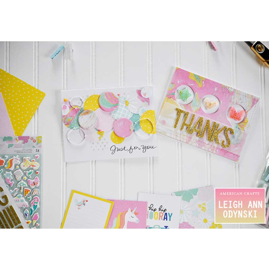 Stickers en chipboard Stay Colorful - 35 pcs