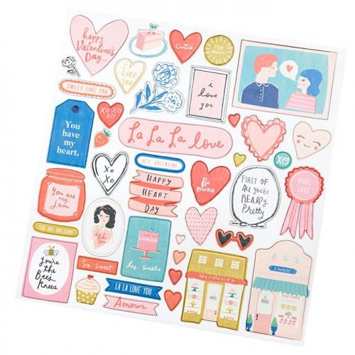 La La Love Chipboard Stickers