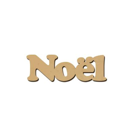 Mot en bois médium - Noël - 4 x 1,3 cm