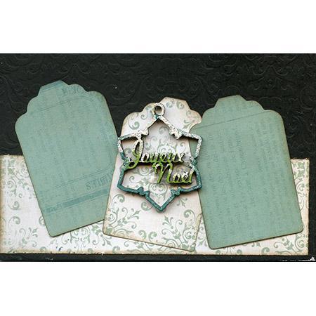 Sujet en bois médium - Flocon joyeux Noël - 5 x 4 cm