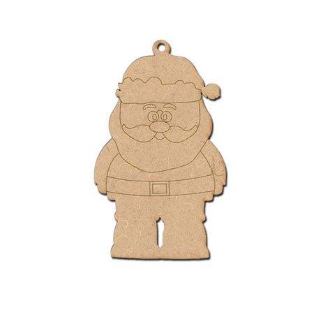 Sujet en bois médium - Père Noël à Suspendre - 9,5 x 5,8 cm