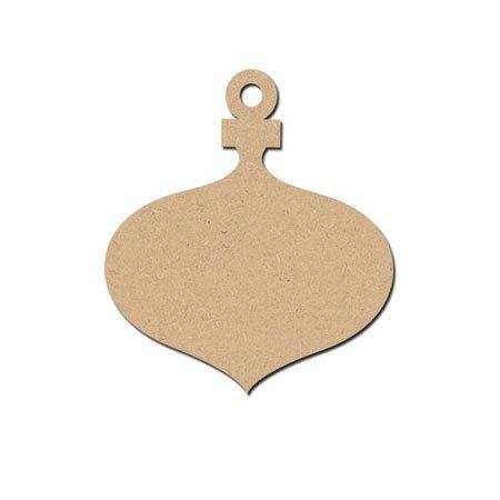 Sujet en bois médium - Boule Gouttes à Suspendre - 8,3 x 7,3 cm