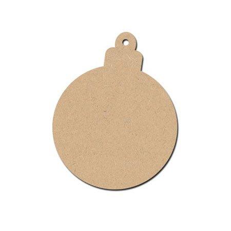 Sujet en bois médium - Boule à Suspendre - 10 x 7,8 cm