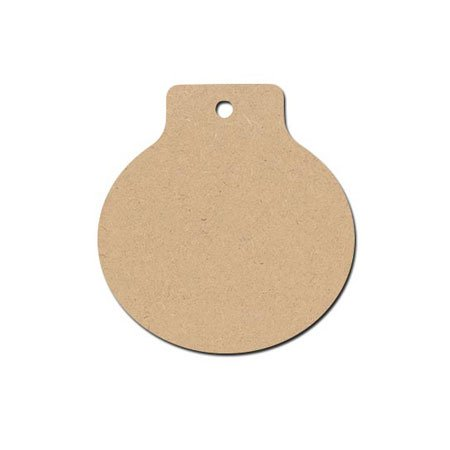 Sujet en bois médium - Boule Castagnette à Suspendre - 10,2 x 9,4 cm