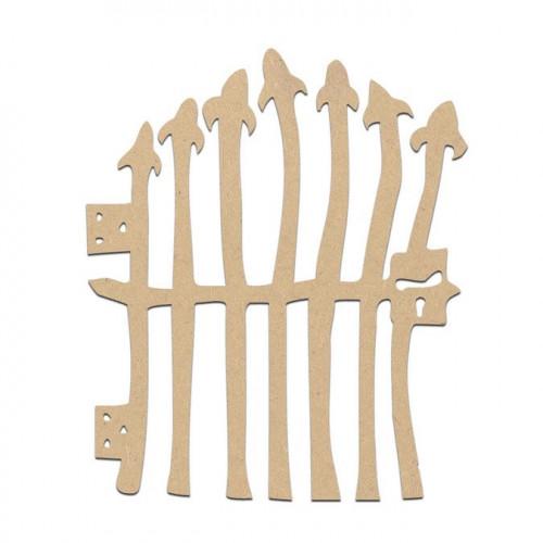 Portail terrifiant en bois médium - 9,5 x 8 cm