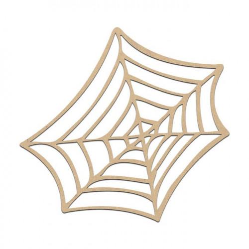 Toile d'araignée en bois médium - 5 x 5 cm