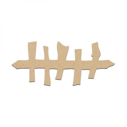 Barrière terrifiante en bois médium - 6 x 3 cm