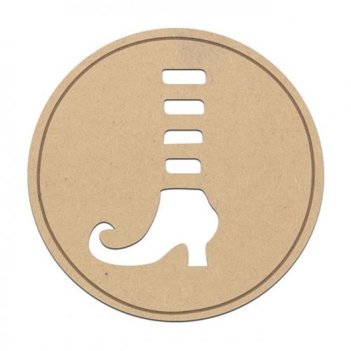 Cachet sorcière en bois médium - 3,5 cm