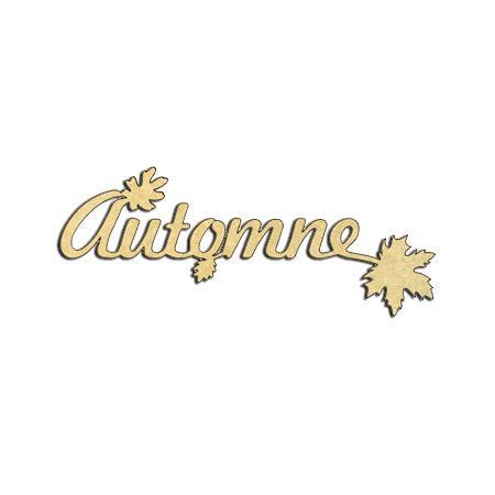 Mot en bois médium - Automne - 8,5 x 2,7 cm