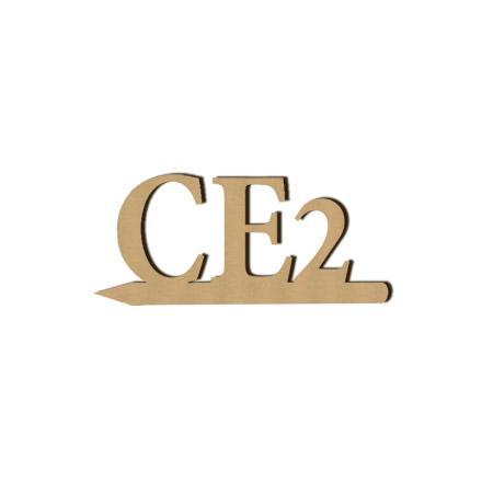 Mot en bois médium - CE2 - 2 x 4.8 cm