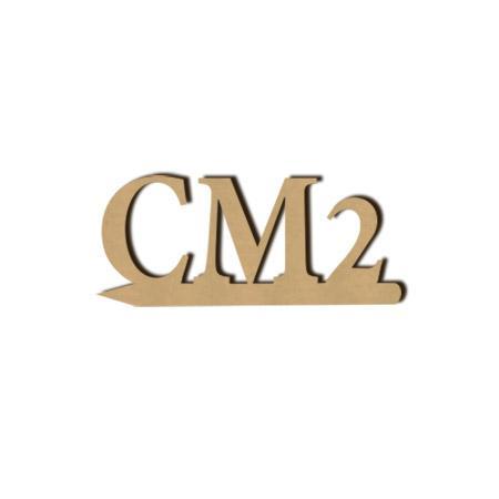 Mot en bois médium - CM2 - 2 x 4.7 cm
