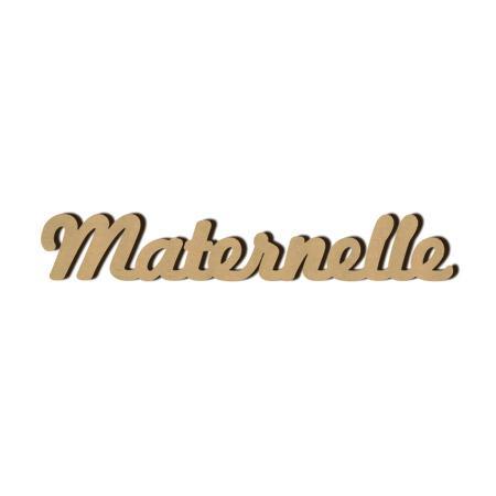 Mot en bois médium - Maternelle - 1 x 6,5 cm