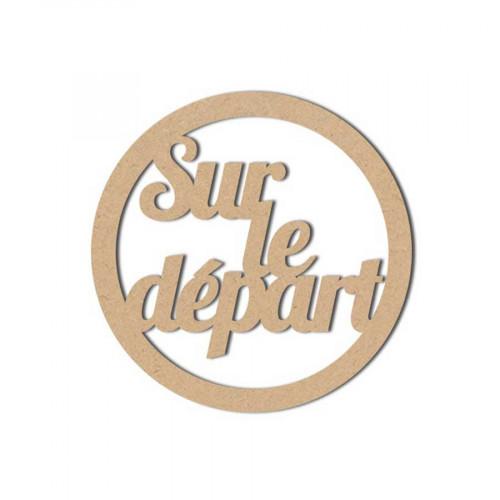 Sujet en bois médium - Capsule Sur le Départ - 3.4 x 3.4 cm