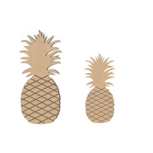 Ananas en bois x2 - 5.5 x 2.5 cm