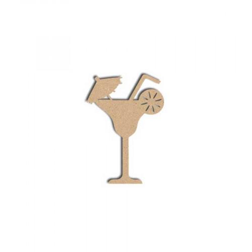 Sujet en bois médium - Cocktail Parasol - 5 x 3.5 cm