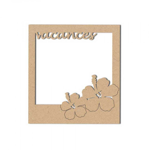 Support en bois médium - Polaroïd Vacances - 8.3 x 9 cm
