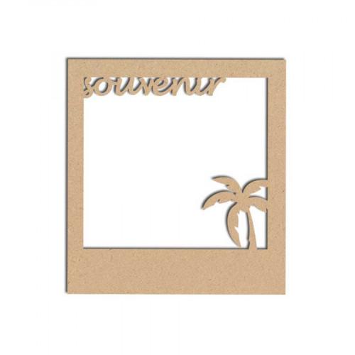 Support en bois médium - Polaroïd Souvenir - 8.3 x 9 cm