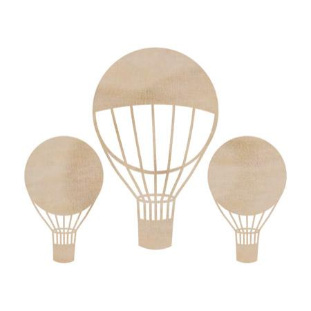 Wooden Flourishes - Hot Air Balloons
